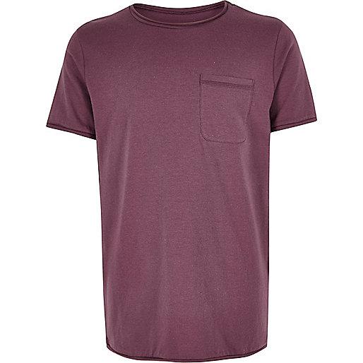 T-shirt mauve texturé pour garçon