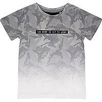 T-shirt imprimé délavé gris mini garçon
