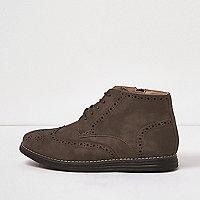 Boys brown brogue boots