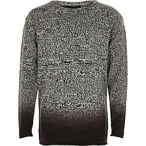 Boys grey dip dye sweater
