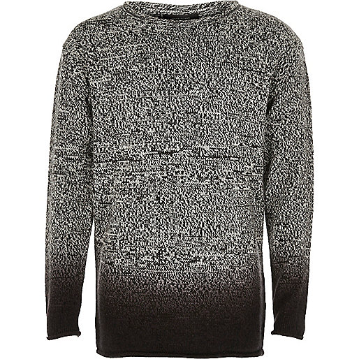 Boys grey dip dye jumper