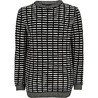 Boys black stripe sweater