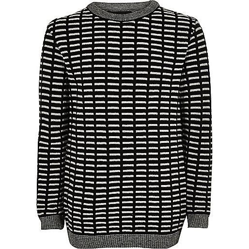 Boys black stripe jumper