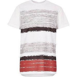 Boys red block panel t-shirt