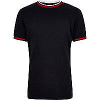 Boys navy ringer t-shirt