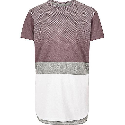 Boys white block print t-shirt