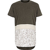 Boys white camo block print T-shirt