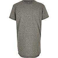 Boys grey curved hem t-shirt