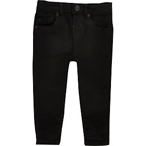 Mini boys black skinny jeans