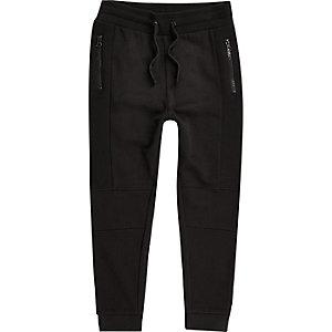 Pantalon de survêtement à empiècements noir pour garçon
