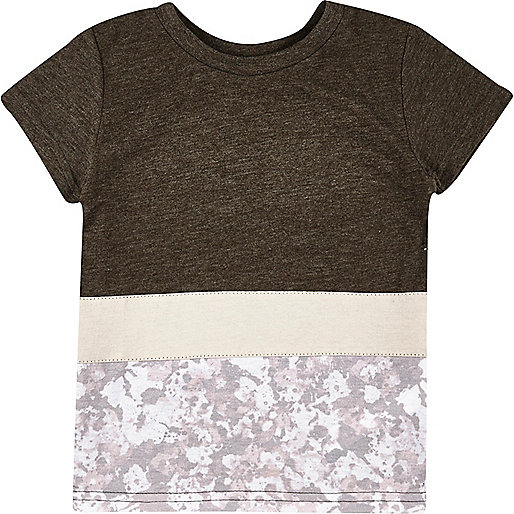 Weißes T-Shirt mit Einsatz