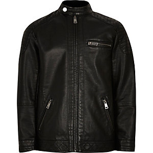 Boys black racer jacket
