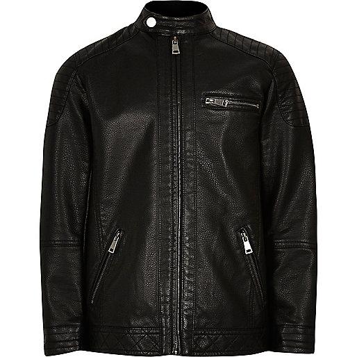 Boys black racer jacket