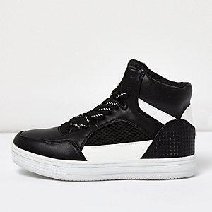 Schwarze hohe Sneakers für Jungen