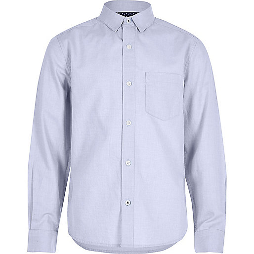 Boys light blue Oxford shirt