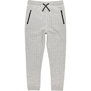 Boys light grey space jogger