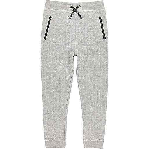 Pantalon de jogging motif espace gris clair pour garçon