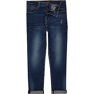 Boys dark blue wash Dylan slim jeans