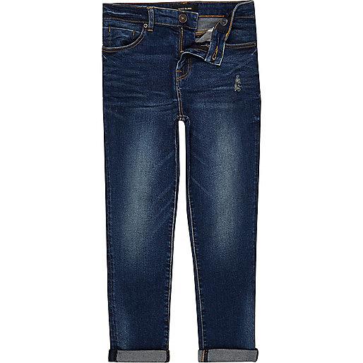 Boys dark blue wash Dylan slim jeans