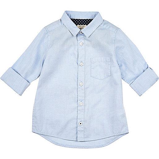 Chemise Oxford bleue mini garçon