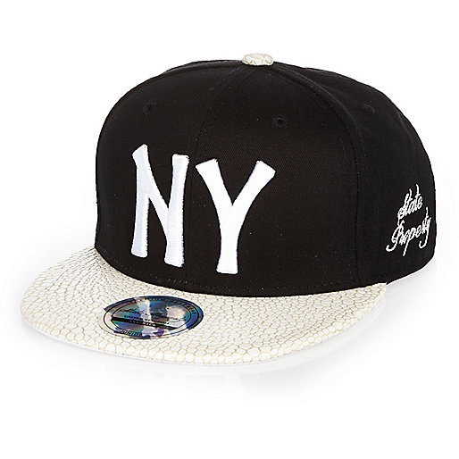 Boys black NY cap