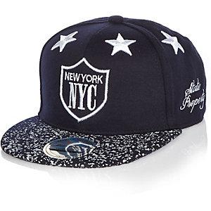 Boys navy stars NY cap