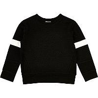 Mini boys black stripe jumper