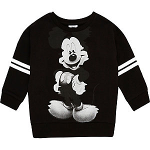 Mini boys black Mickey Mouse sweatshirt