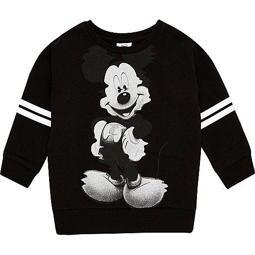 Mini boys black Mickey Mouse sweatshirt