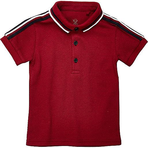 Mini boys red polo shirt