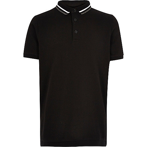 Boys black polo shirt