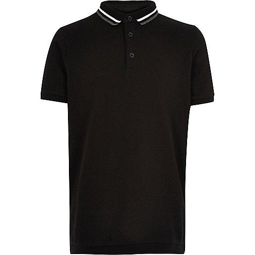 Polo noir pour garçon