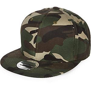Boys khaki camouflage print cap