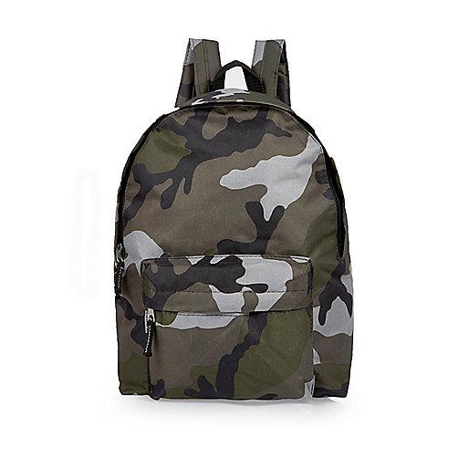 Boys khaki camo backpack