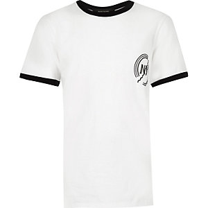 Boys white ringer t-shirt