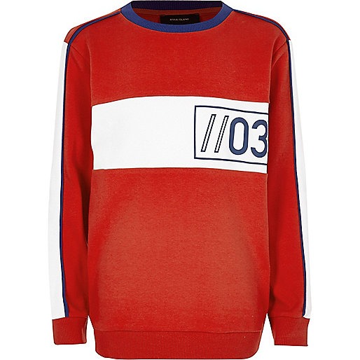 Boys red sporty sweatshirt