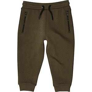 Pantalon de jogging vert kaki texturé mini garçon