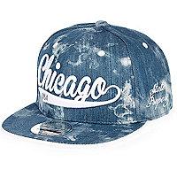 Boys blue denim Chicago cap