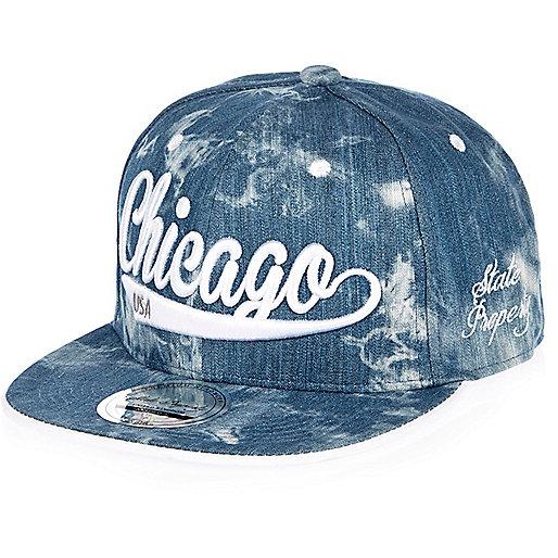 Casquette Chicago en jean bleu pour garçon