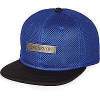Boys blue mesh Brooklyn cap