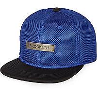 Blaue Brooklyn-Kappe mit Mesh-Einsatz