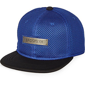 Boys blue mesh Brooklyn cap