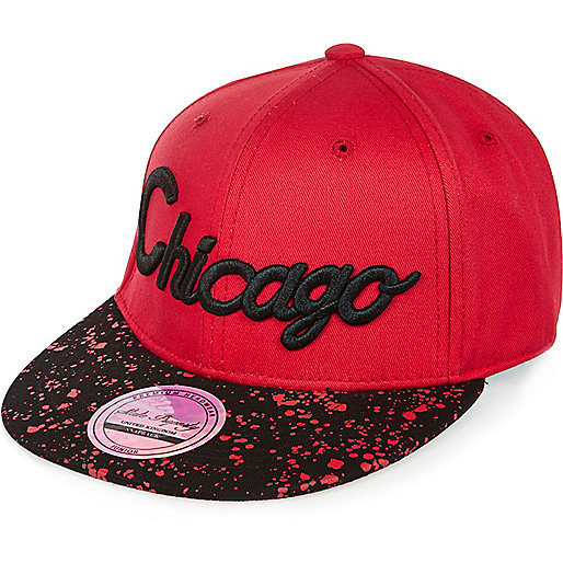 Boys red urban Chicago cap