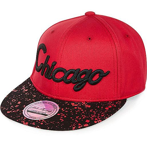 Casquette Chicago rouge urbaine pour garçon