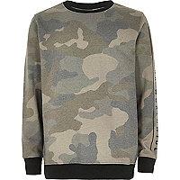 Boys khaki camo jumper