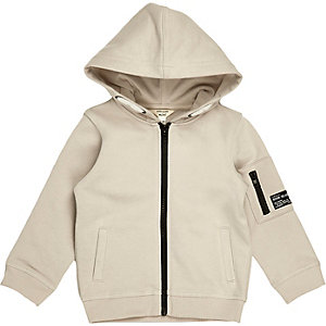 Mini boys stone cotton hoodie