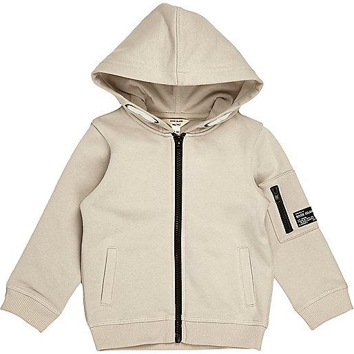 Mini boys stone cotton hoodie