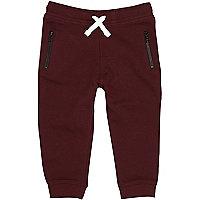 Pantalon de jogging en coton bordeaux mini garçon