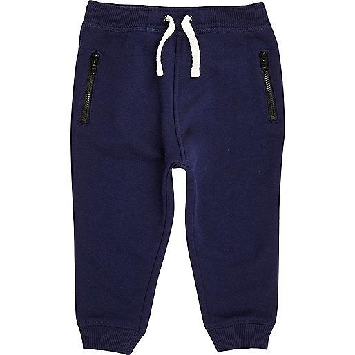Pantalon de jogging en coton bleu marine mini garçon