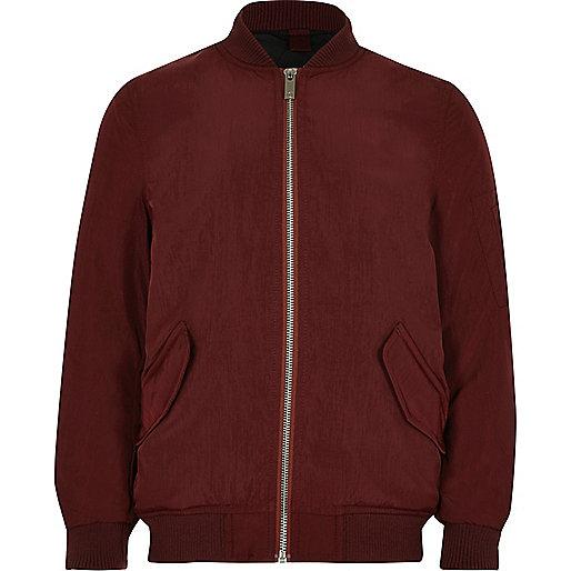 Boys dark red bomber jacket